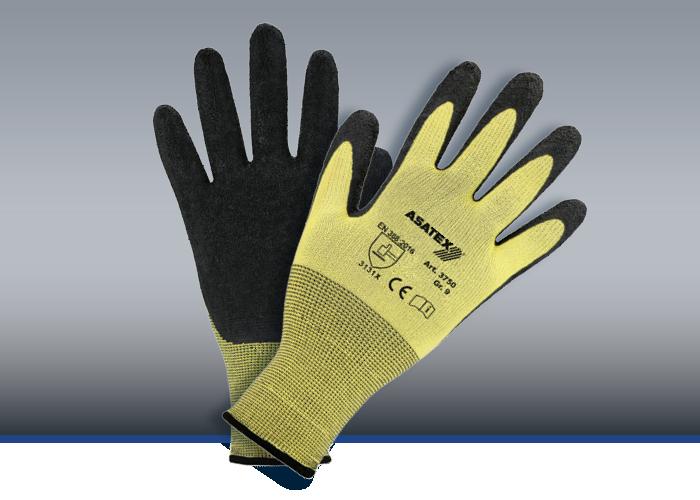 Feinstrick-Handschuhe, Latex-Beschichtung, #3750